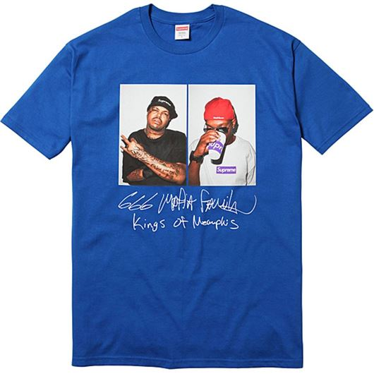 Picture of Supreme Three Six Mafia Tee Blue