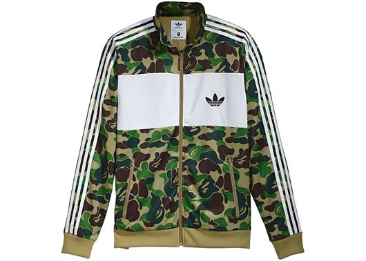 Picture of Bape X adidas ABC Camo Track  Jacket Green