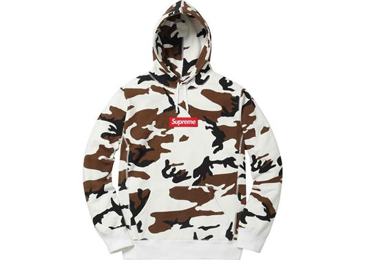 Picture of Supreme Box Logo Hooded Sweatshirt Camo