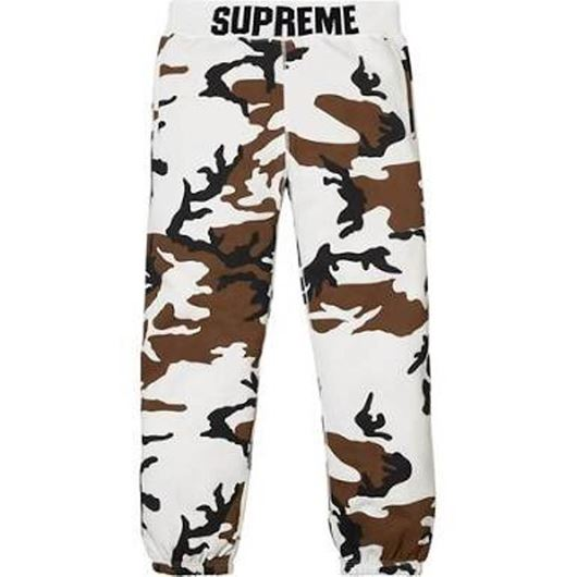 Picture of Supreme Rib Logo Sweatpants Camo