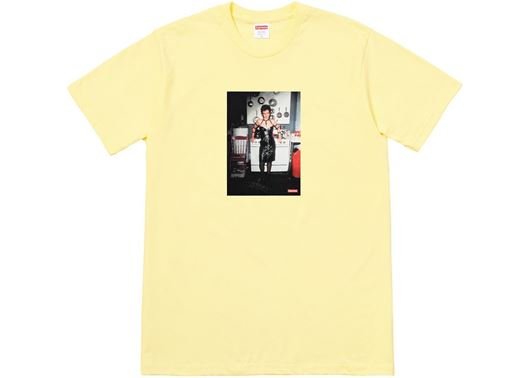 Picture of Supreme Nan Goldin Nan as a dominatrix Tee Pale Yellow