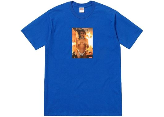 Picture of Supreme Nan Goldin Kim in Rhinestone Tee Blue