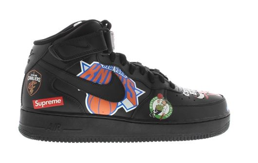 Picture of Air Force 1 Mid Supreme NBA Black