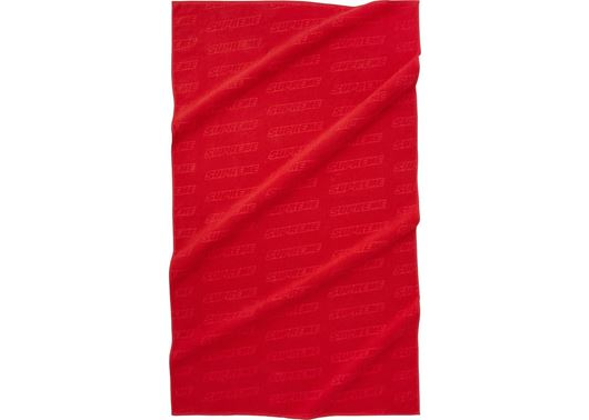 Picture of Supreme Debossed Logo Beach Towel Red