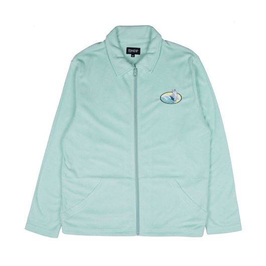 Picture of Paradise Terry Cloth Zip Up Mint