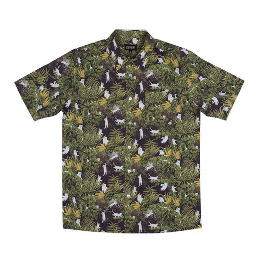 Picture of Jungle Nerm Button Up Black