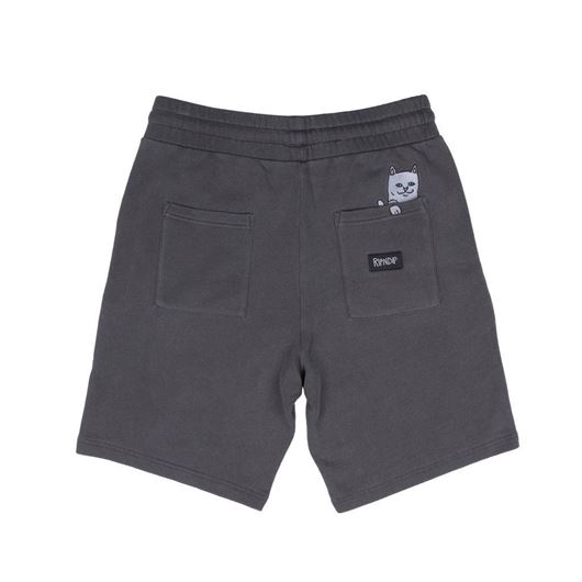 Picture of Peek A Nerm Over Dye Sweat Shorts  Black