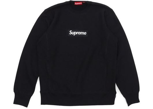 Picture of Supreme Box Logo Crewneck Black