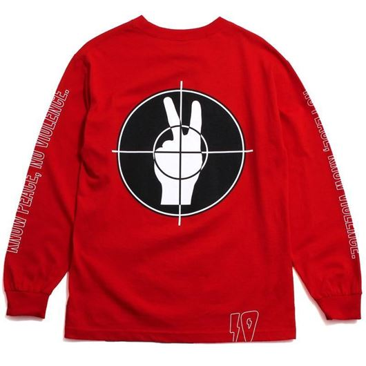 Picture of NO PEACE L/S Red