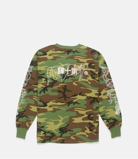Picture of DRAGON KANJI TEE Woodland Camo