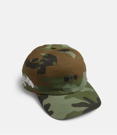 Picture of DRAGON KANJI Snapback Woodland Camo