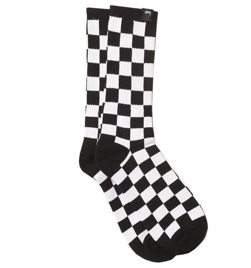 Picture of CHECKER SOCKS Black/White