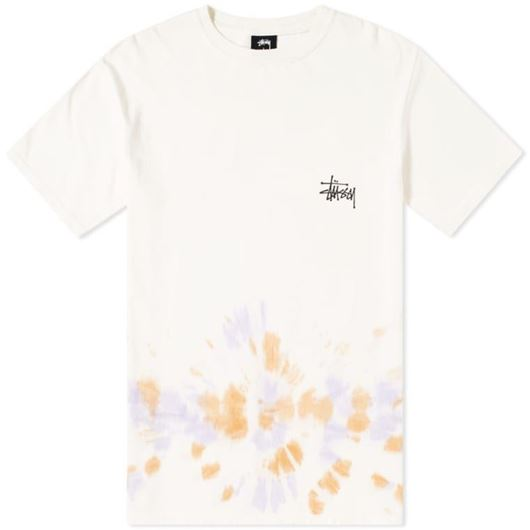 Picture of BASIC STUSSY TD TEE NATURAL/ORANGE