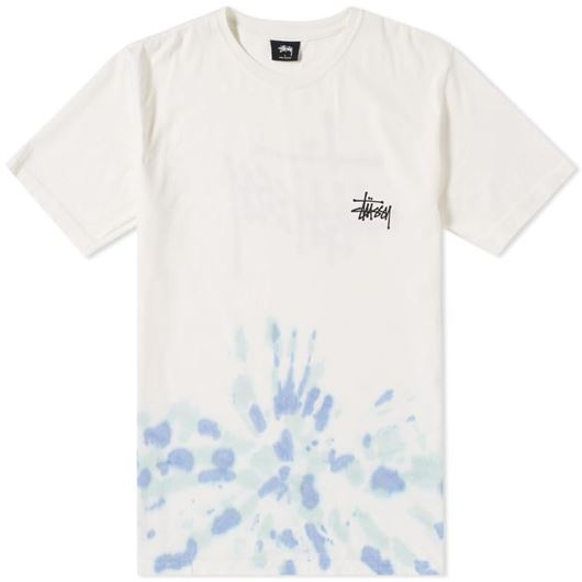 Picture of BASIC STUSSY TD TEE NATURAL/BLUE