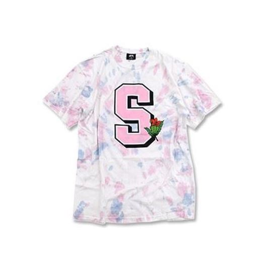 Picture of UNIVERSITY TD TEE NATURAL/PINK