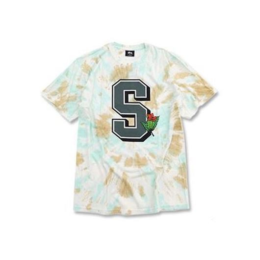 Picture of UNIVERSITY TD TEE NATURAL/GREEN