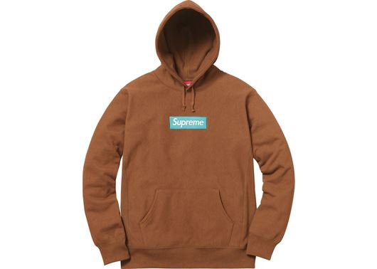 Picture of Supreme Box Logo Hooded Sweatshirt (FW17) Rust