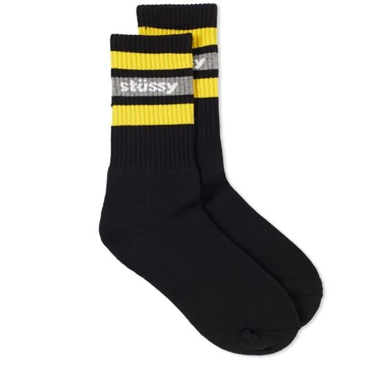 Picture of STRIPE SP18 CREW SOCKS Black