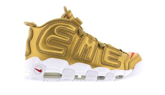 Picture of Supreme x Nike Air More Uptempo Gold