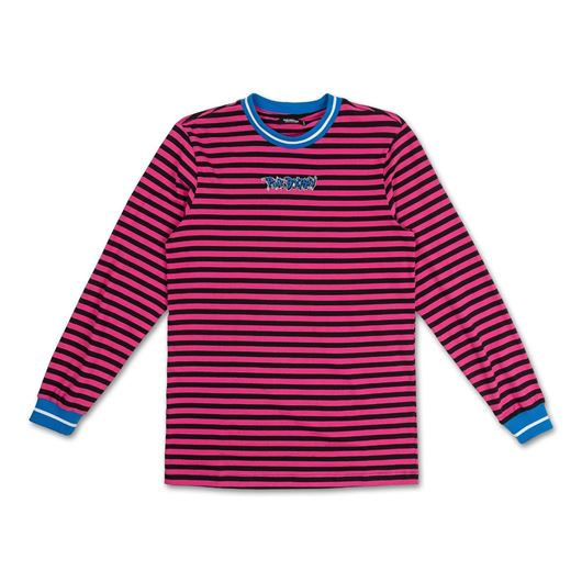 Picture of WAVE STRIPE L/S TEE Pink