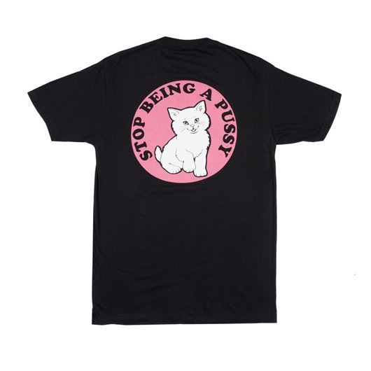Picture of Stop Being a Pussy Tee Black