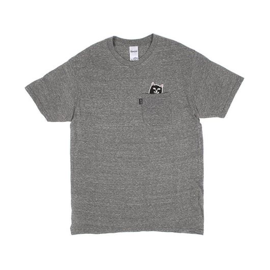 Picture of Lord Jermal Pocket Tee Heather Grey