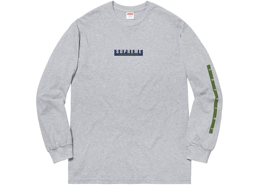 Picture of Supreme 1994 LS Tee Heather Grey f047a080016