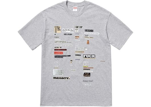 Picture of Supreme Cutouts Tee Heather Grey
