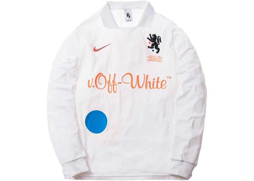 488d3c2cbd Picture of Nikelab x OFF-WHITE Mercurial NRG X FB Jersey White
