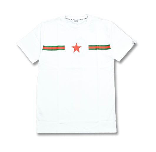 Picture of RG Stripes Vertical Star Tee White