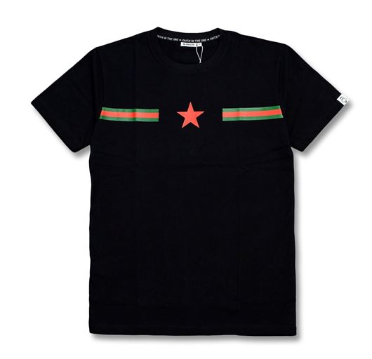 Picture of RG Stripes Vertical Star Tee Black