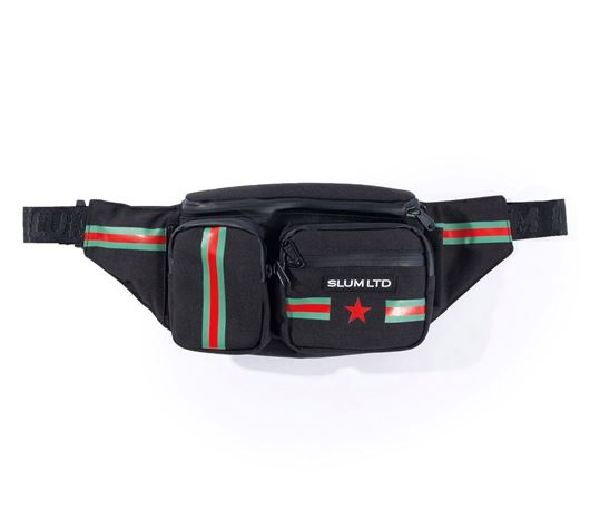 Picture of RG Stripes Waist Bag Black