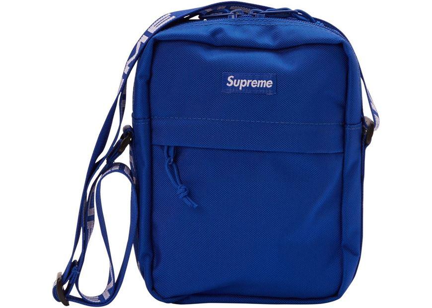 57b745189093 Picture of Supreme Shoulder Bag (SS18) Blue