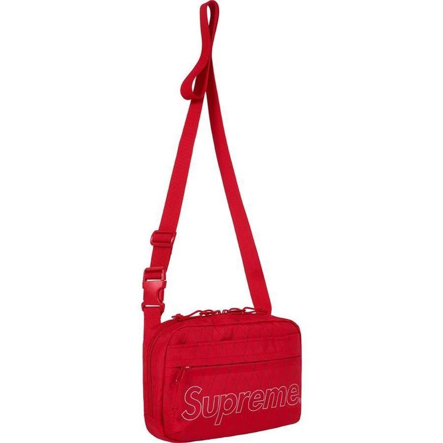 86af59c8b2 Picture of Supreme Shoulder Bag (FW18) Red
