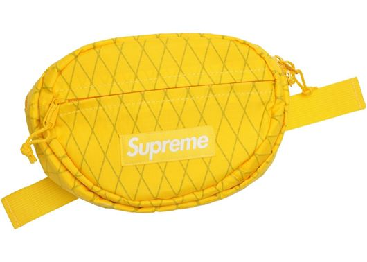 Picture of Supreme Waist Bag (FW18) Yellow