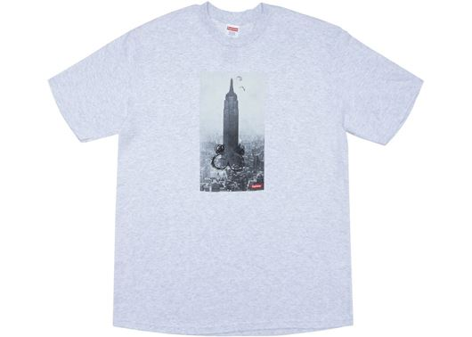 Picture of Supreme Mike Kelley The Empire State Building Tee Ash Grey