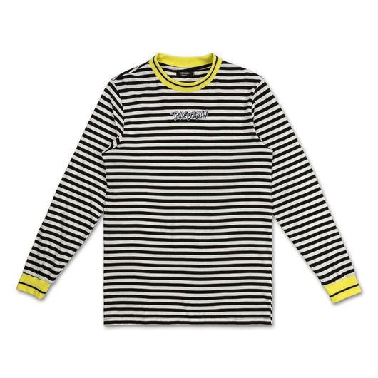Picture of WAVE STRIPE L/S TEE White/Black