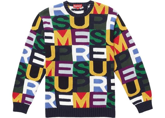 Picture of Supreme Big Letters Sweater Multicolor