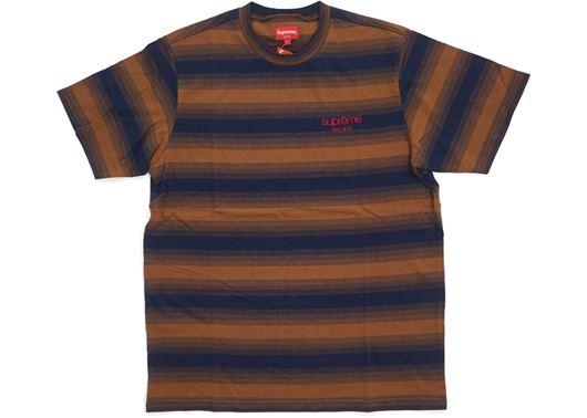 Picture of Supreme Gradient Striped S/S Top Brown