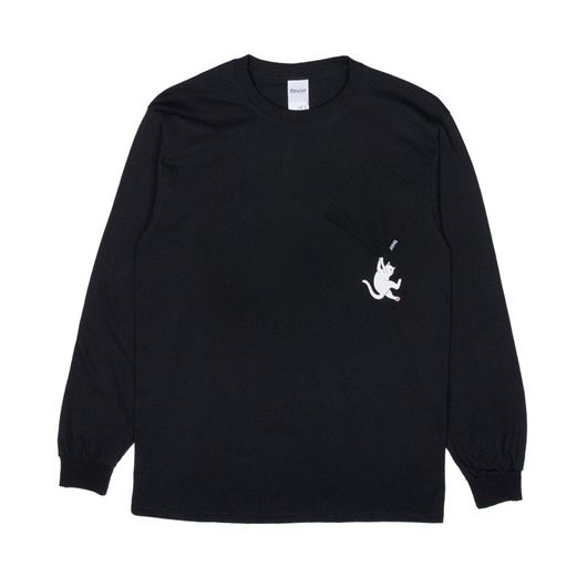 Picture of Hang In There L/S Black