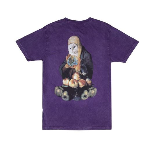 Picture of World On Fire Tee Purple Mineral Wash