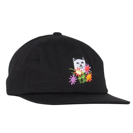 Picture of Flowers For Bae 6 Panel Strap Back Black