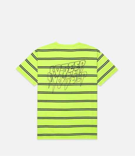 Picture of SND & FRY STRIPE Tee Neon Yellow