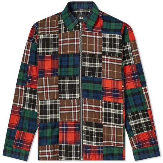 Picture of PATCHWORK ZIP UP LS SHIRT PLAID