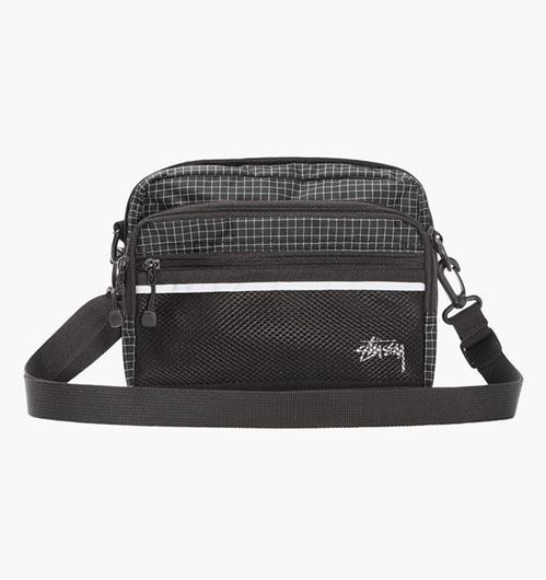 Picture of RIPSTOP NYLON SHOULDER BAG Black