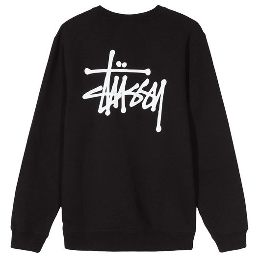 Picture of BASIC STUSSY CREW Black