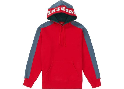 Picture of Supreme Paneled Hooded Sweatshirt Red