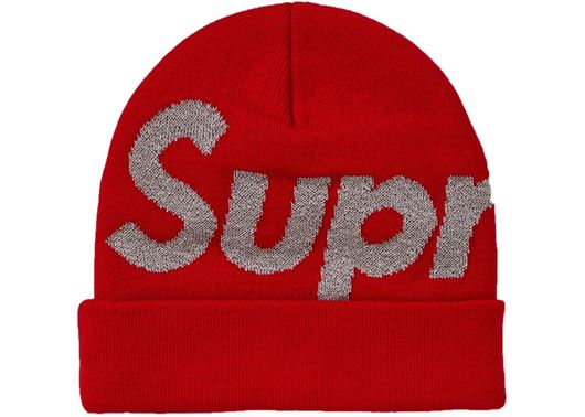 Picture of Supreme Big Logo Beanie (FW18) Red