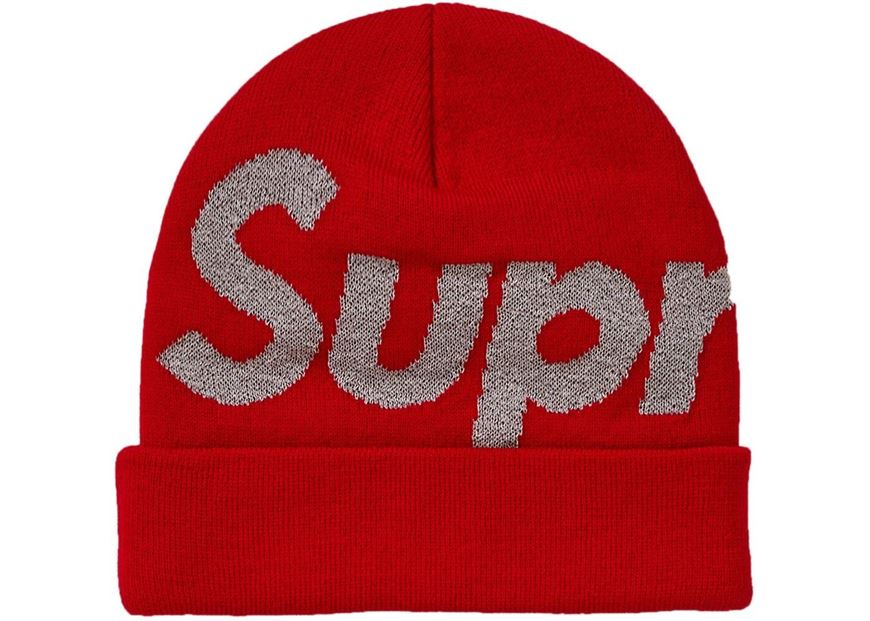 Picture of Supreme Big Logo Beanie (FW18) Red 2c0d348aced