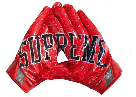 Picture of Supreme Nike Vapor Jet 4.0 Football Gloves Red